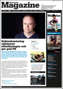 Rykteshantering i Enterprise Magazine