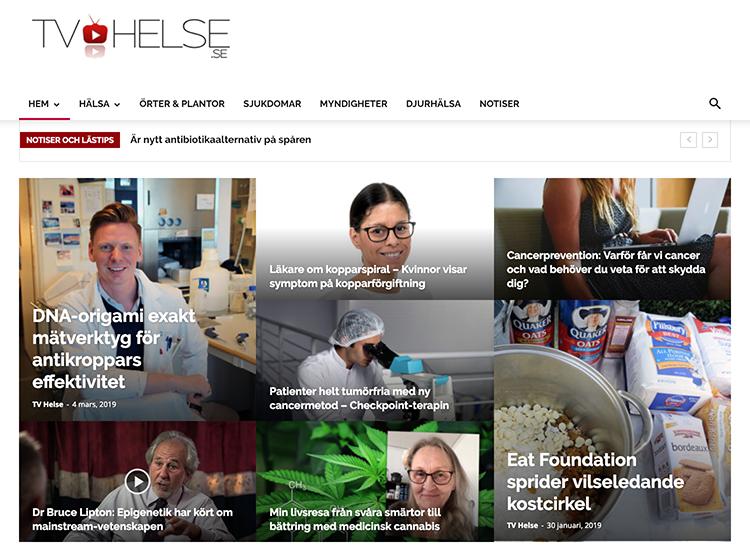 TV-Helse.se den 6 mars 2019