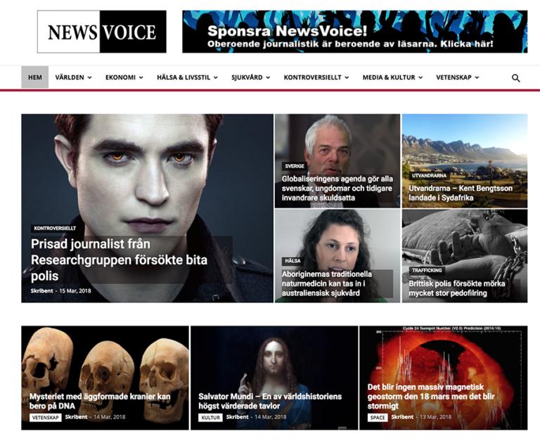 NewsVoice - Hemsida -15 mars 2018